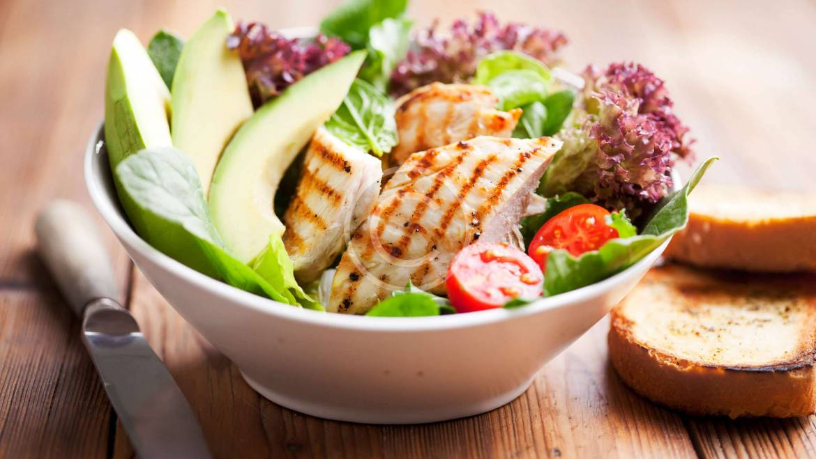 Chicken Salad with Tomatoes and Avocado